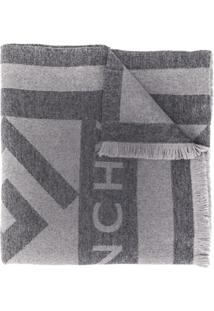 Givenchy Cachecol Com Logo - Cinza