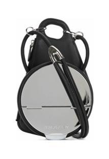 Published By Engraved Logo Round Shoulder Bag - Preto