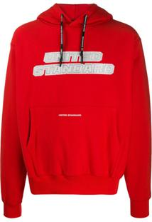 United Standard Moletom Com Estampa De Logo - Vermelho