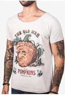 Camiseta Hermoso Compadre The Old Man Pumpkins Masculina - Masculino-Cinza
