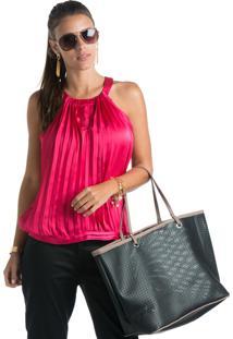 Blusa Marcia Mello Cavada Plissada Pink