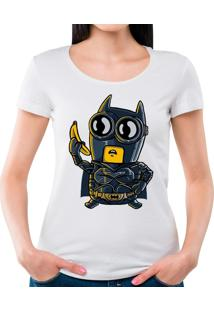 Camiseta Feminina Bat Minion Geek10 - Branco
