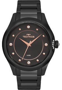 Eclock. Relógio Feminino Aço Dobrável Analógico Tamanho Grande Technos ... d762cf68e7