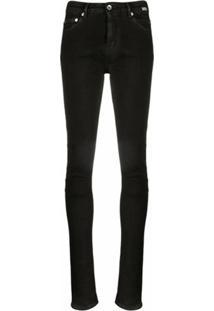 Rick Owens Drkshdw Calça Jeans Skinny Cintura Média - Preto
