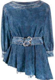 Just Cavalli Blusa Jeans Assimétrica - Azul