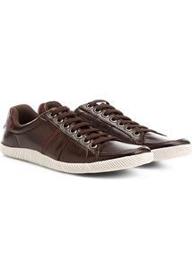 Sapatênis Couro Shoestock Recorte Masculino - Masculino