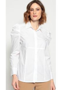 Camisa Drapeados- Branca - Pacific Bluepacific Blue