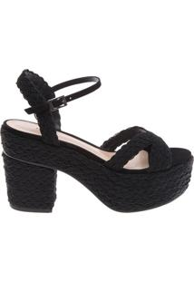 Sandália Plataforma Crisscross Black   Schutz