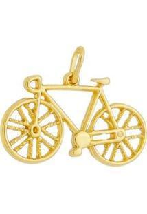 Pingente Bicicleta Bike Folheado A Ouro 18K - Unissex-Dourado