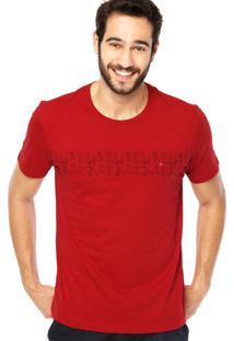 Camiseta Manga Curta Aramis Estampa Vermelha