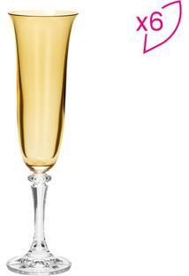 Jogo De Taças Para Champagne Kleopatra Branta- Cristal &Rojemac