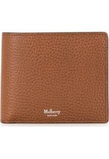 Mulberry Carteira Dobrável Com Logo - Marrom
