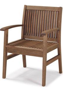 Cadeira Com Bracos Primavera Stain Castanho - 34890 - Sun House
