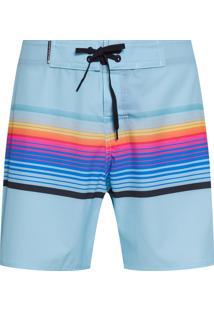 Bermuda Masculina Surf Vintage Stripes - Azul