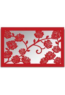 Espelho De Parede 13212V Vermelho 70X110 Art Shop