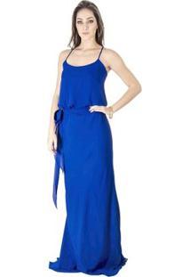 Vestido Longo Básico Calvin Klein - Feminino-Azul