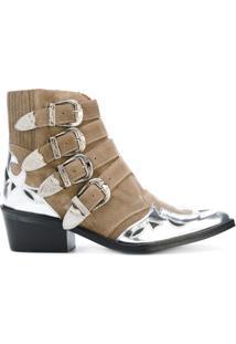 Toga Pulla Ankle Boot De Couro - Nude & Neutrals