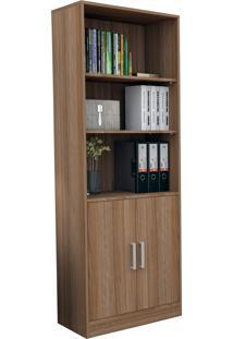 Armário Para Escritório Com Porta E Prateleiras Office Plus Appunto - Castanho