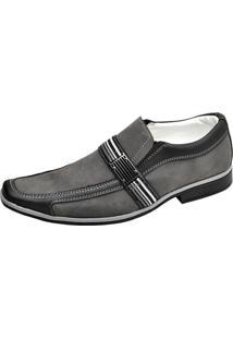 Sapato Social Novo Hábito Rutilo 3030 Cinza