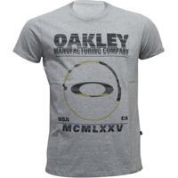 Camiseta Oakley Seeing Double Elipse Masculino - Masculino-Cinza cc1888b6733c4