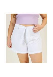 Short Plus Size Feminino Clochard Tiras Amarração Razon