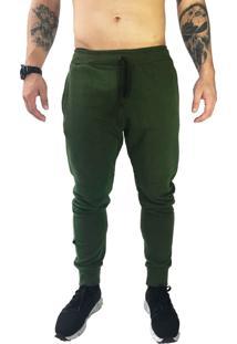 Calça Jog Moletom Brohood Verde Militar