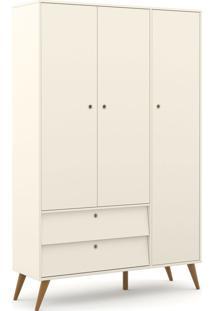 Roupeiro 3 Portas Gold Off White/Eco Wood Matic Mã³Veis - Off White - Dafiti