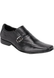 Sapato Social Masculino Couro Leoppé - Masculino-Preto