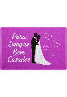 Capacho Para Sempre Bem Casados Rosa 0,40X0,60M Beek