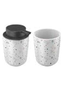 Kit Banheiro Em Ceramica Granit 2 Pecas 2 Pecas Artex - 2 Pecas - Diversos