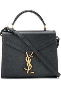 Saint Laurent Cassandra Monogram Clasp Bag - Preto