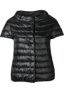 Herno Short Sleeve Puffer Jacket - Preto