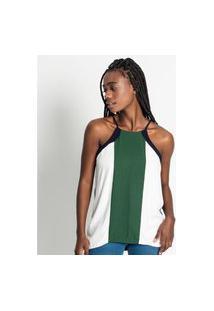 Blusa Feminina De Alça Frente Única Endless Verde