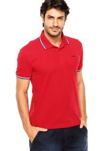Camisa Polo Sommer Viés Vermelha