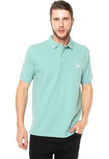 Camisa Polo Polo Play Reta Logo Verde