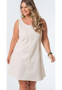 Vestido Almaria Plus Size Munny Curto Liso Branco