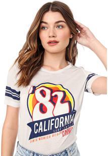 Camiseta Carmim Califórnia Off-White