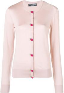 Dolce & Gabbana Cardigan De Seda - Rosa