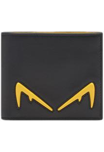 Fendi Carteira Diabolic Eyes - Preto
