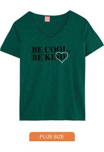 Blusa Verde Be Kind Botonê