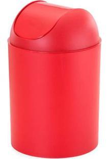 Lixeira Basculante 5 Litros Com Tampa Vermelha Arthi