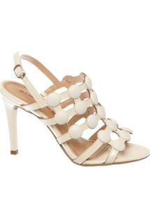 Sandália Botões Off White