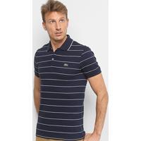 cd79ce4b29886 Camisa Polo Lacoste Listrada Slim Masculina - Masculino