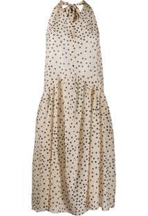Stella Mccartney Vestido Com Estampa De Poás - Neutro