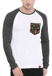 Camiseta Wevans Bolso Aplique Old School - Masculino