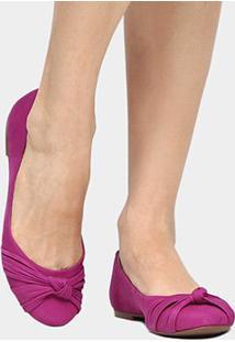 Sapatilha Couro Shoestock Nó Feminina - Feminino-Pink