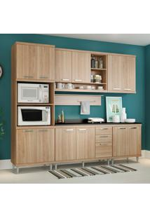 Cozinha Compacta Com Tampo 12 Portas 5815 Argila - Multimóveis