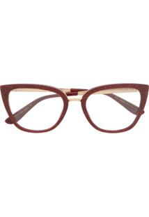 Dolce & Gabbana Eyewear Óculos De Sol Gatinho Com Brilho - Vermelho