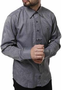 Camisa Manga Longa Bivik Masculina - Masculino-Cinza