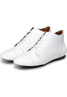 Bota Cavalaria Ankle Boot Branca - Tricae